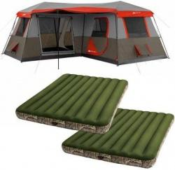 Walmart.com Has The Ozark Trail 12 Person 3 Room Cabin Tent W/ 2 Queen  Airbeds For $279.00. Also, Free Shipping Is Included With This Deal.