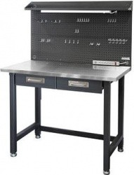 Seville Classics UltraHD Lighted Stainless Steel Top Workbench - $189.98