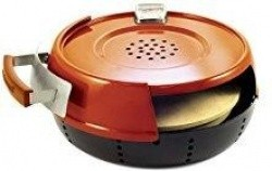 Pizzacraft Stovetop Pizza Oven with Steel Base, Cordierite Stone - $73.99