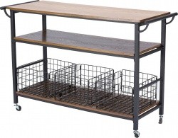 Industrial Dark Brown Wood Cart by Baxton Studio - $148.39 Shipped Free