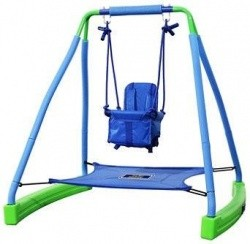 Sportspower My First Toddler Swing with Bouncer, Blue & Green - $79.91