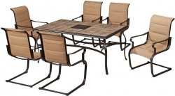 Home Depot Has The Highly Rated Hampton Bay Belleville 7 Piece Padded Sling  Outdoor Dining Set For $299.00. This Item Also Currently Includes Free  Shipping.