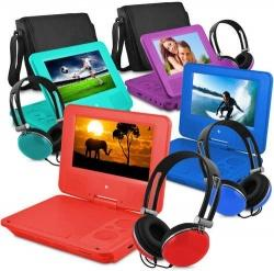 """Ematic 7"""" Portable DVD Player with Color Headphones & Case - $37.99"""