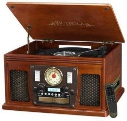 Victrola Wooden Nostalgic 8-in-1 Bluetooth Turntable - $104.03 Shipped